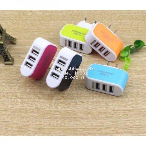 Cục Sạc Đa Năng 3 Cổng Sạc USB