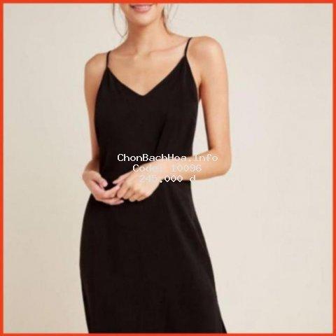Đầm Nữ 2 Dây Không Nhăn Nhúm  Chất Váy Đũi Xốp Trơn. Váy Xuông 2 Dây Hàng Thiết Kế Cao Cấp