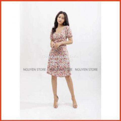 Đầm Nữ Đẹp Xếp Ly Chất Liệu Lụa Mango Thoáng Mát Hàng Thiết Kế
