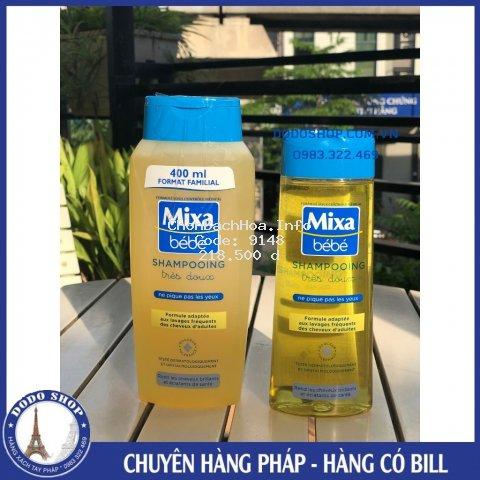 Dầu gội Mixa Bebe dành cho bé, giúp bảo vệ da đầu và cho mái tóc mềm mượt- Hàng có Bill
