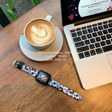 Dây Apple Watch Chuột Mickey Cao Cấp , Phong Cách Nữ Tính Dành Cho Size 38mm 40mm