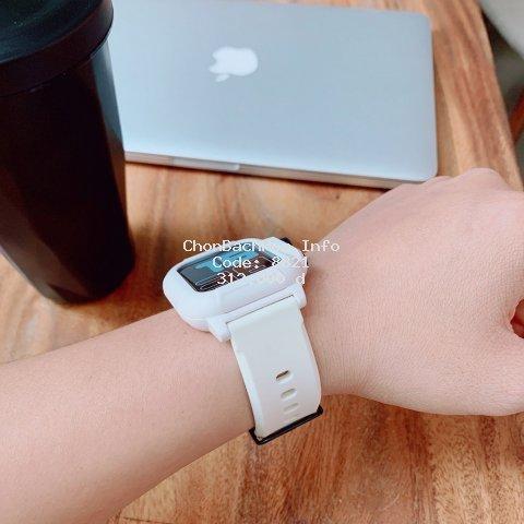 Dây Apple Watch Silicon Cao Cấp, Phong Cách Thể Thao Dành Cho Size 38mm 40mm 42mm 44mm 44mm