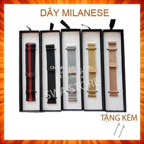 Dây đồng hồ thép mỏng (mesh, milanese) khóa nam châm cỡ 18mm 20mm 22mm [Dễ thay dây]