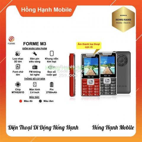 Điện Thoại Forme M3 - Hàng Chính Hãng - Hồng Hạnh Mobile