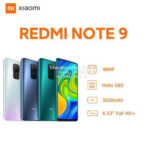 Điện Thoại Xiaomi Redmi Note 9 4GB/128GB - Hàng Chính Hãng
