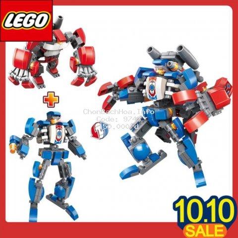 Đồ chơi LEGO giáo dục mô hình lắp ráp người máy và quái thú 2 trong 1 giúp trẻ sáng tạo