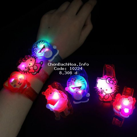 Đồng hồ đeo tay có đèn LED trong suốt dễ thương