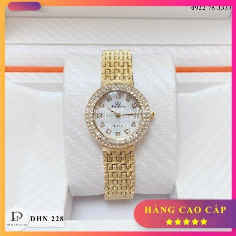 Đồng hồ nữ BS - đính đá - máy nhật luxury  - Có hộp bảo hành - tặng vòng trang sức - DHN228 - HT.store6666