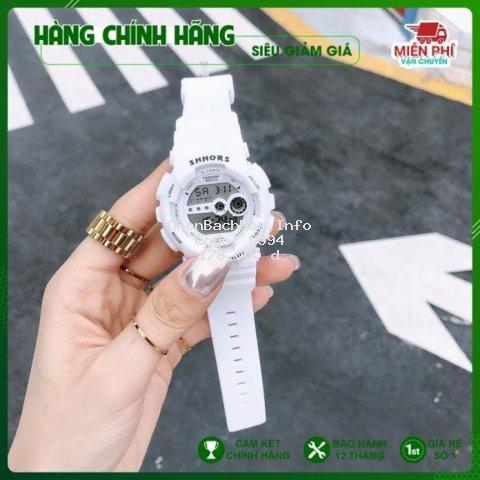 Đồng hồ thể thao nữ, đồng hồ điện tử SHHORS ms02 đeo là xinh
