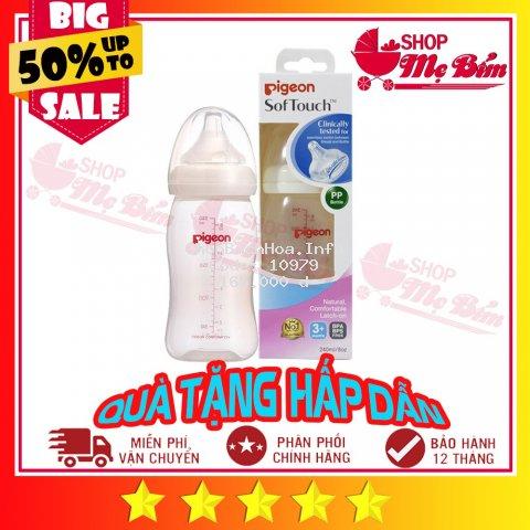[ĐỦ SIZE] Bình Sữa Pigeon Cổ Rộng PP Plus 160ML/260ML/330ML
