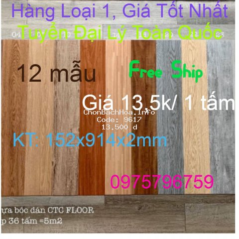 [FREE SHIP] Sàn nhựa giả vân gỗ loại 1 có sẵn keo Vân sần, độ dày đủ 2mm