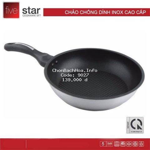 [FREESHIP❤️] Chảo chống dính bếp từ 3 đáy inox 430 Fivestar - Đủ size từ 16 đến 28cm