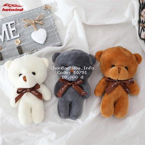 Gấu bông mini cao 12cm xinh xắn đáng yêu