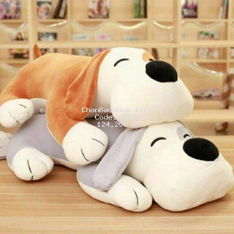 (Gấu Gông)Chó mắt híp Nhồi Bông size 55cm Siêu đáng yêu