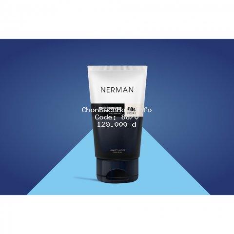 Gel rửa mặt ngăn ngừa mụn Nerman Nano Curcumin 60s Fresh