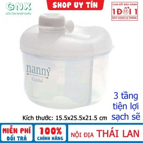 Hộp chia sữa Nanny 3 ngăn tiện lợi cho mẹ hàng nội địa Thái Lan – đổi trả miễn phí N200D9