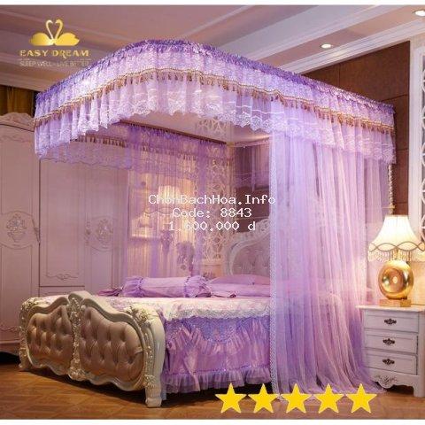 ?HOT DEAL? Mùng (màn ) màn khung chống muỗi  không khoan tường  khung inox - vải tuyn cao cấp -( màn +khung )