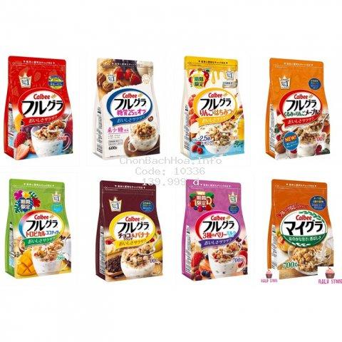 (HSD 4/2021) Ngũ cốc trái cây Calbee với đủ vị ngon tuyệt - Nhật Bản