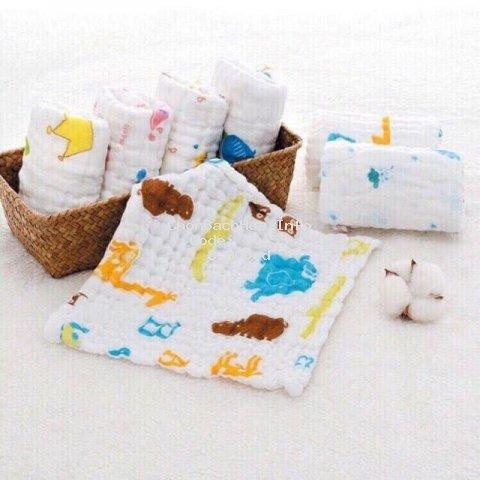 Khăn Mặt Xô 6 Lớp Rửa Mặt Cho Bé 100% cotton (PK002)