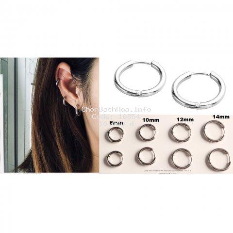 Khuyên tai tròn titan có xỏ vành