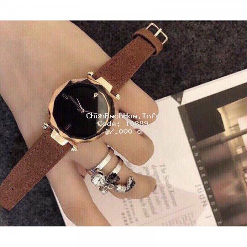 [Mã APWAT11A giảm 20000 đơn 0] Đồng hồ thời trang nữ Dorin không số mặt kính 3D
