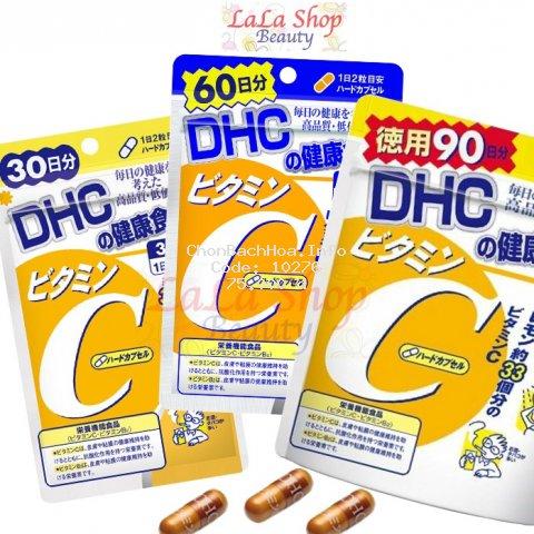 [Mã COSHOT28 hoàn 8% xu đơn 250K] Viên Uống Bổ Sung Vitamin C DHC Nhật Bản