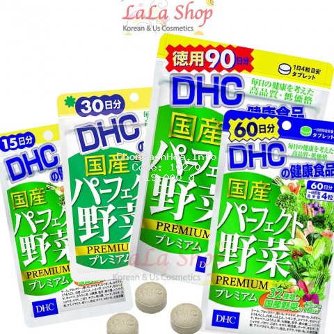 [Mã COSHOT28 hoàn 8% xu đơn 250K] Viên Uống Rau Củ DHC Perfect Vegetable Premium Nhật Bản