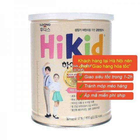 [Mã MKBCLUCKY giảm 8% đơn 400K] [Tem chống hàng giả] Sữa Hikid tăng chiều cao vị Vani, Socola, Premium 600g Date mới