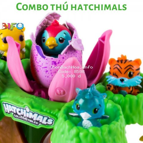 [Mã TOYOCT hoàn 20K xu đơn 50K] Combo đồ chơi thú Hatchimals, đồ chơi Shopkins cho bé thỏa thích vui chơi