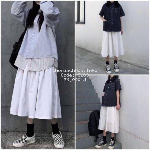 [Mã WAP1010 hoàn 10k xu đơn 99k] Chân váy kaki form dài hình thật [ sp bán chạy nhất năm 2020 ] - màu trắng