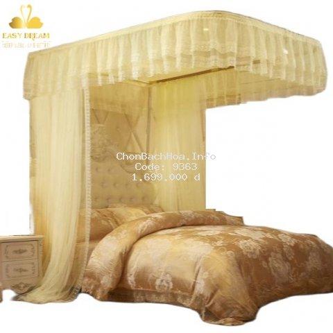 Màn (mùng) khung inox cao cấp không khoan tường EASY DREAM (chống muỗi ) vải tuyn ( màn+khung ) chính hãng Easy Dream