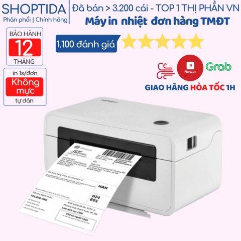 Máy in nhiệt Shoptida SP46 in đơn hàng, tem mã vạch, hóa đơn,livestream, dùng giấy in nhiệt tự dán bảo hành 12 tháng