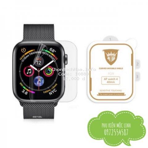 Miếng dán dẻo skin PPF tự phục hồi trầy xước cho Apple Watch size 38 40 42 44mm