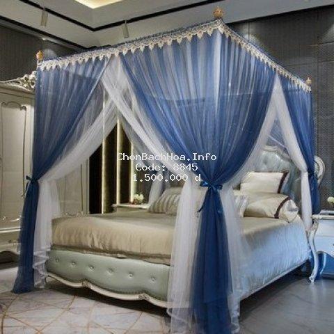 Mùng ( màn ) khung không khoan tường chống muỗi Mosquito Net dành cho giường 1.8