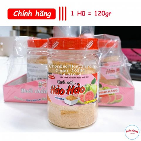 Muối Hảo Hảo Chấm Hoa quả, thức ăn Chính Hãng - hũ 120gr
