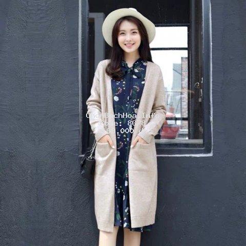 [NEW] Áo cardigan dáng dài, áo khoác len phong cách Hàn Quốc