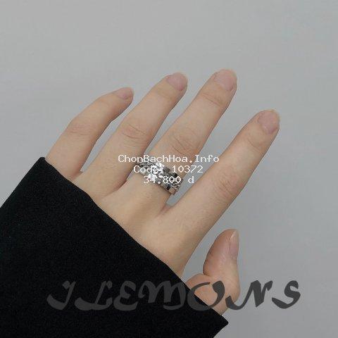 Nhẫn đeo tay bằng thép không gỉ thời trang cá tính cho cặp đôi