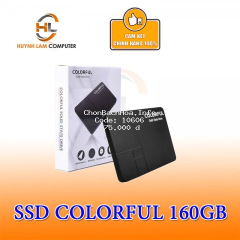 Ổ cứng SSD 160GB Colorful SL300 chính hãng NWH Phân phối