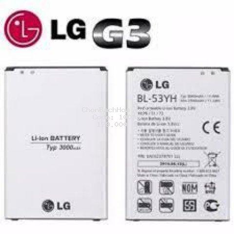 Pin LG G3/ F400/ D830 /D851/ D855/ VS985/ F490L/ F460 /F400s/ Lss990/ F460s/ G3 zin Chính hãng, Không treo máy