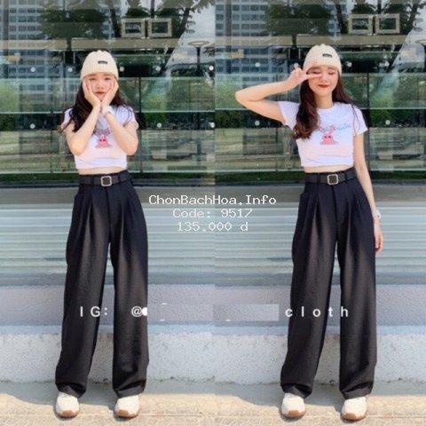 Quần ống rộng culottes xuông dài, quần lưng cao kiều Hàn Quốc cho nữ