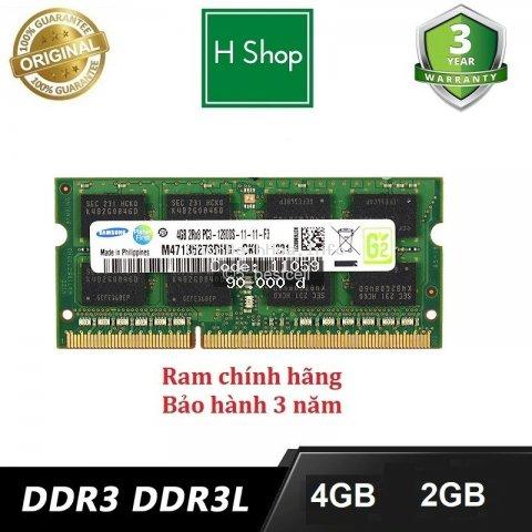 Ram laptop DDR3L (PC3L) 4gb bus 1600, và các loại khác, bảo hành 3 năm