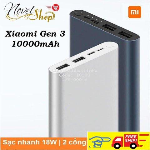 Sạc Dự Phòng Xiaomi Gen 3_2019 10000mAh SẠC NHANH 18W