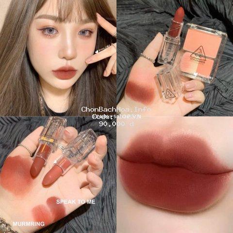 Sẵn - Son Thỏi Lì Vỏ Trong 3CE Soft Matte Lipstick Clear Layer Edition