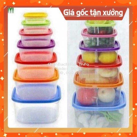 [Siêu Thị Giá Gốc] Set 7 món hộp nhựa để thức ăn