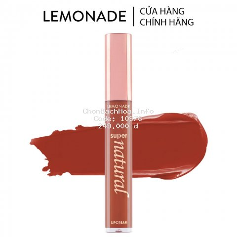 Son Kem Lì Lemonade SuperNatural Matte Lipcream 5g