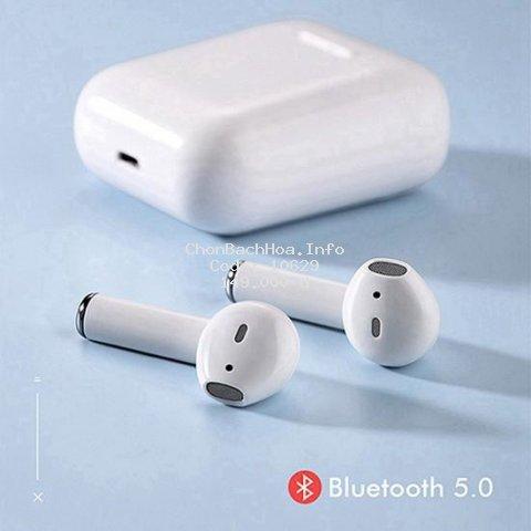 Tai Nghe Bluetooth i12 5.0 Cảm Ứng Cực Nhạy Tăng Chỉnh Âm Lượng 1 Đổi 1 Trong 30 Ngày