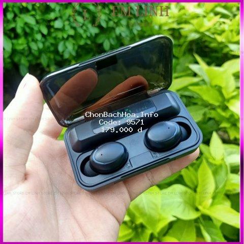 Tai Nghe Bluetooth True Wireless F9 PRO Bluetooth 5.0 | Bản Quốc Tế | Cảm Ứng | Chống Nước(Loại mới)