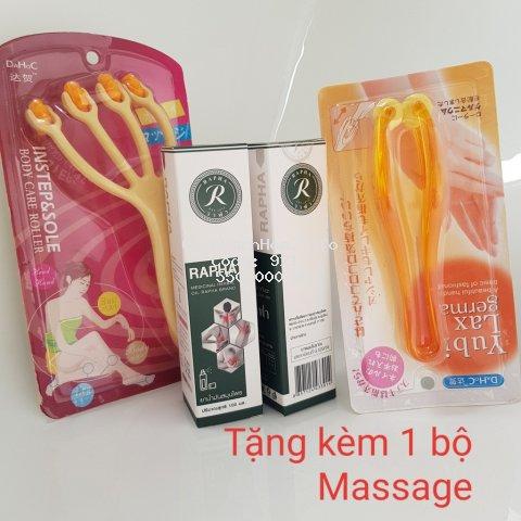 [Tặng Cây Massage] Combo 2 Chai Dầu Y Học Cổ Truyền Thái Lan RAPHA 100ml