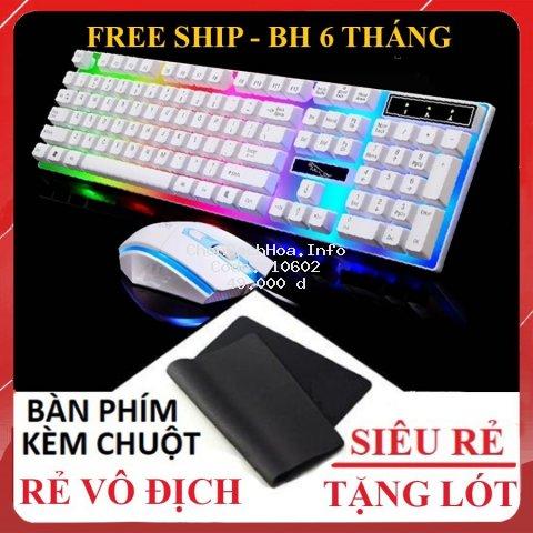 [ TẶNG LÓT CHUỘT ] Bàn Phím Chuột Giả Cơ G21 - Chuyên game - Có đèn LED 7 màu - Cho máy tính, laptop