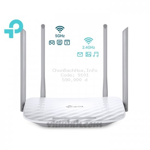TPLINK Router băng tần kép Wi-Fi AC1200 Archer C50